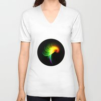 parrot V-neck T-shirts featuring Parrot by Klara Acel