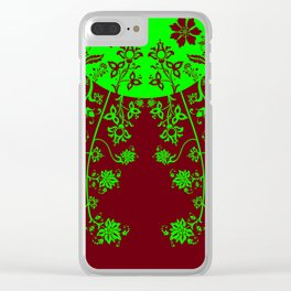 floral ornaments pattern vop90 Clear iPhone Case