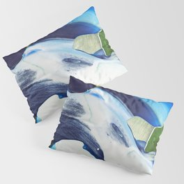 Abstraction - Piece of Blue - by LiliFlore Pillow Sham