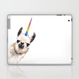 Sneaky Unicorn Llama White Laptop & iPad Skin