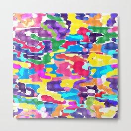 Bright modern youth pattern Metal Print