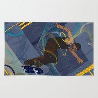 skateboard Area & Throw Rugs featuring Project Skateboard by Martin Orme
