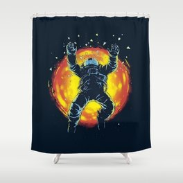 Space Accident Shower Curtain