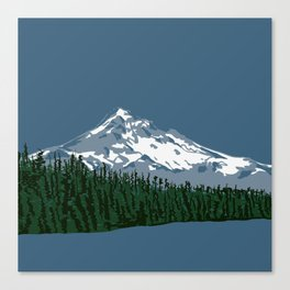 Mount Hood Illustration Canvas Print