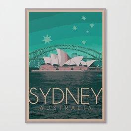 Sydney Australia Poster Version I Canvas Print