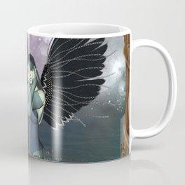 Wonderful fairy with fantasy birds Coffee Mug