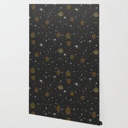 Christmas starry night pattern Wallpaper