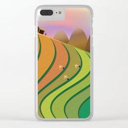 Terrace Fields Clear iPhone Case