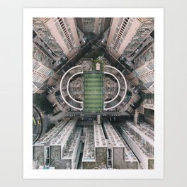 A court in the city Art Print