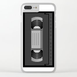 Kawaii VHS pixel art Clear iPhone Case