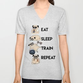 Eat Sleep Train Repeat Unisex V-Neck