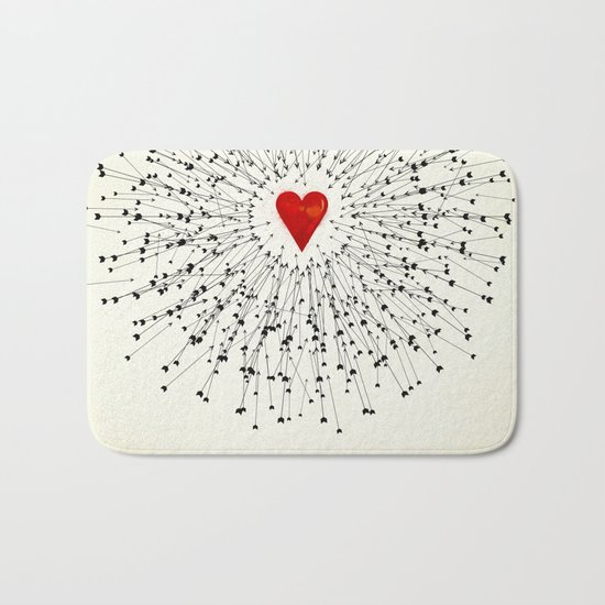 Heart&Arrows Bath Mat