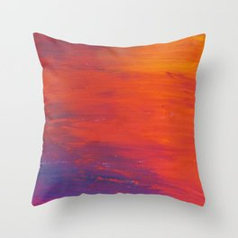 To Add Colour to My Sunset Sky Throw Pillow
