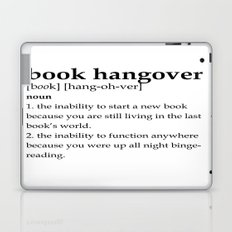 Book hangover defintion Laptop & iPad Skin