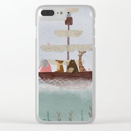 setting sail Clear iPhone Case