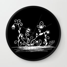 Floral (inverted) Wall Clock