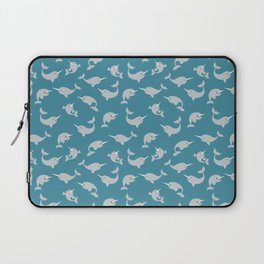 Narwhals Under the Sea Laptop Sleeve