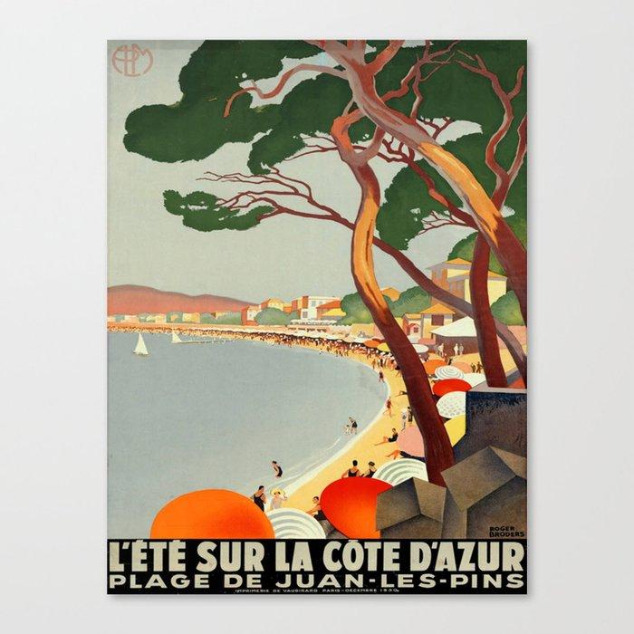 Vintage poster - Cote D'Azur, France Leinwanddruck