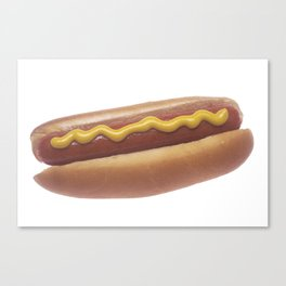 Hot Dog with Mustard Canvas Print
