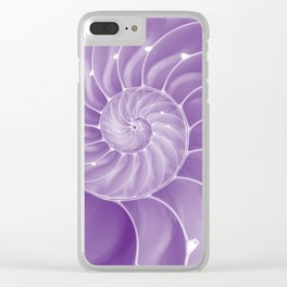 Ultra Violet Chambered Nautilus Clear iPhone Case