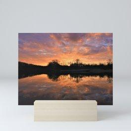Spring Sunrise At Doe Lake Mini Art Print