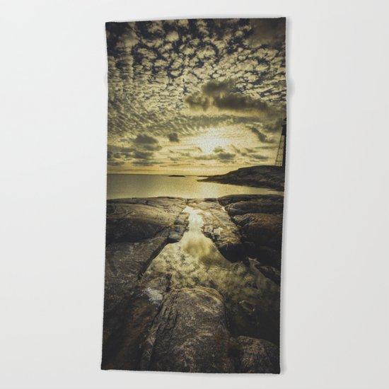 Good night sweet sun Beach Towel