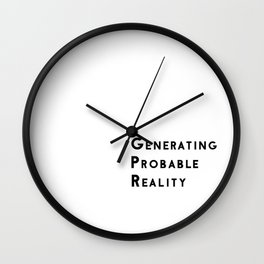 Generating Probable Reality Wall Clock