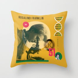Beyond Curie: Rosalind Franklin Throw Pillow