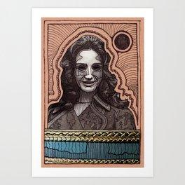 PORTRAIT OF A ZOMBIE GIRL Art Print