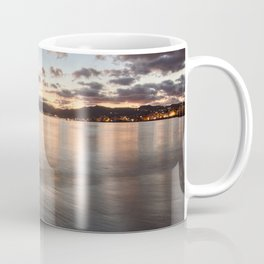 Golden hour in the strait of Messina Coffee Mug