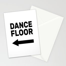 Dance floor (arrow pointing left) Stationery Cards