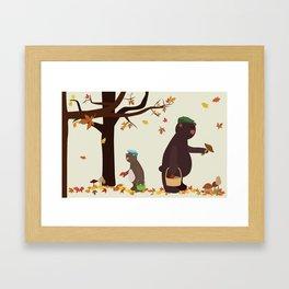 Autumn Bears Framed Art Print
