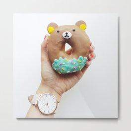 donuts bear Metal Print
