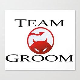 Team Groom DareDevil Canvas Print