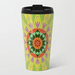 Mandala fleur, vert Travel Mug