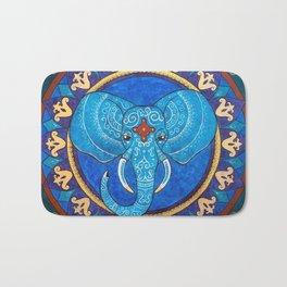 Wisdom - Elephant mandala Bath Mat
