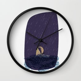 A Journey (a boat on rough seas) Wall Clock