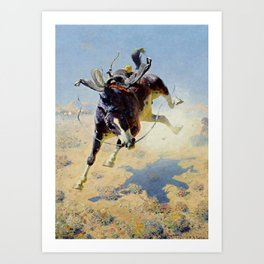 "William Leigh Western Art ""A Fighting Cyclone"" Art Print"