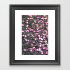 Pink and Gray Framed Art Print