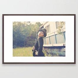 She gathers no moss Framed Art Print
