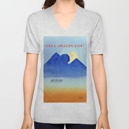Giza By Moonlight Unisex V-Neck