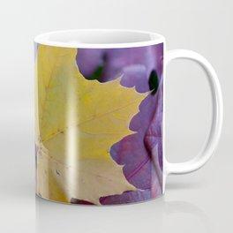Yellow Gold Leaf on Red Coffee Mug