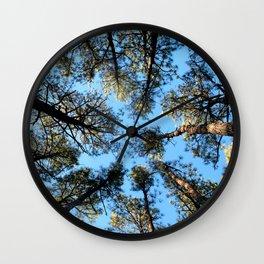 Watercolor Tree, Under, Conifer 01, Janes Island, Maryland Wall Clock