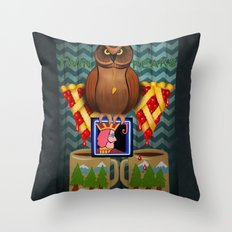 Twin Peaks Where The Coffee Is Always Hot Throw Pillow