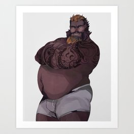 Dragon Man Art Print