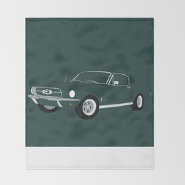 1968 Ford Mustang GT Throw Blanket