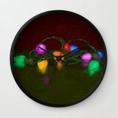 All Lit Up Wall Clock