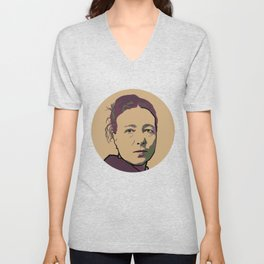 Simone de Beauvoir Unisex V-Neck