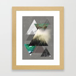 Triangles Symphony Framed Art Print