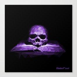 Memento mori - royal violet Canvas Print
